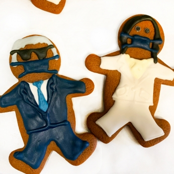 Cookies of the president (Mike Pence) and vice president (Kamala Harris).